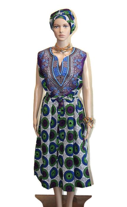 Green Blue Amp Purple Nsubura Amp Dashiki Dress African